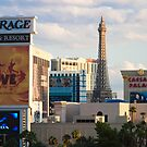 Tight Shot of Las Vegas Strip at Sunset  by Henry Plumley