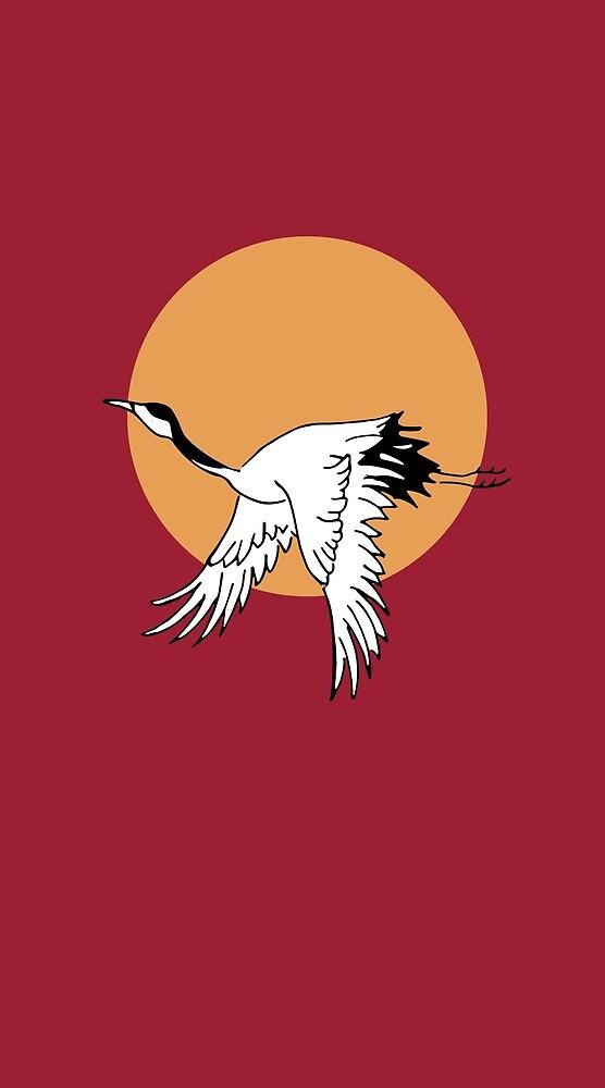 Flying Crane by mattmulligan