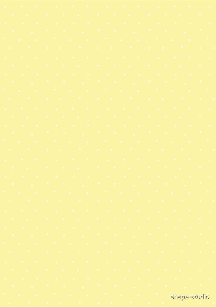 Dots - Lemon & White by shape-studio