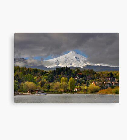 Pucon and Volcano Villarica Canvas Print