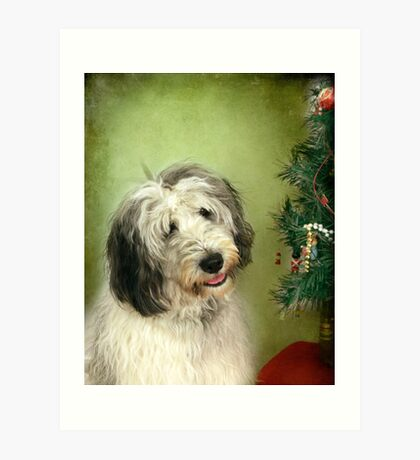 """"""" I Hope There Really Is A Santa Paws . . ."""" Art Print"""