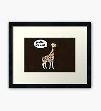 Giraffes are cool Framed Print