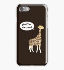 Giraffes are cool iPhone Case/Skin