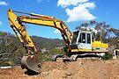 Katu HD900 Excavator by buildings