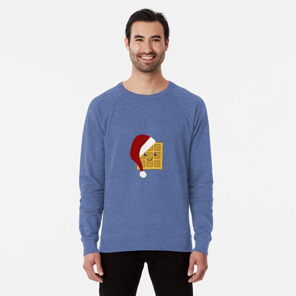 Christmas Waffle Lightweight Sweatshirt