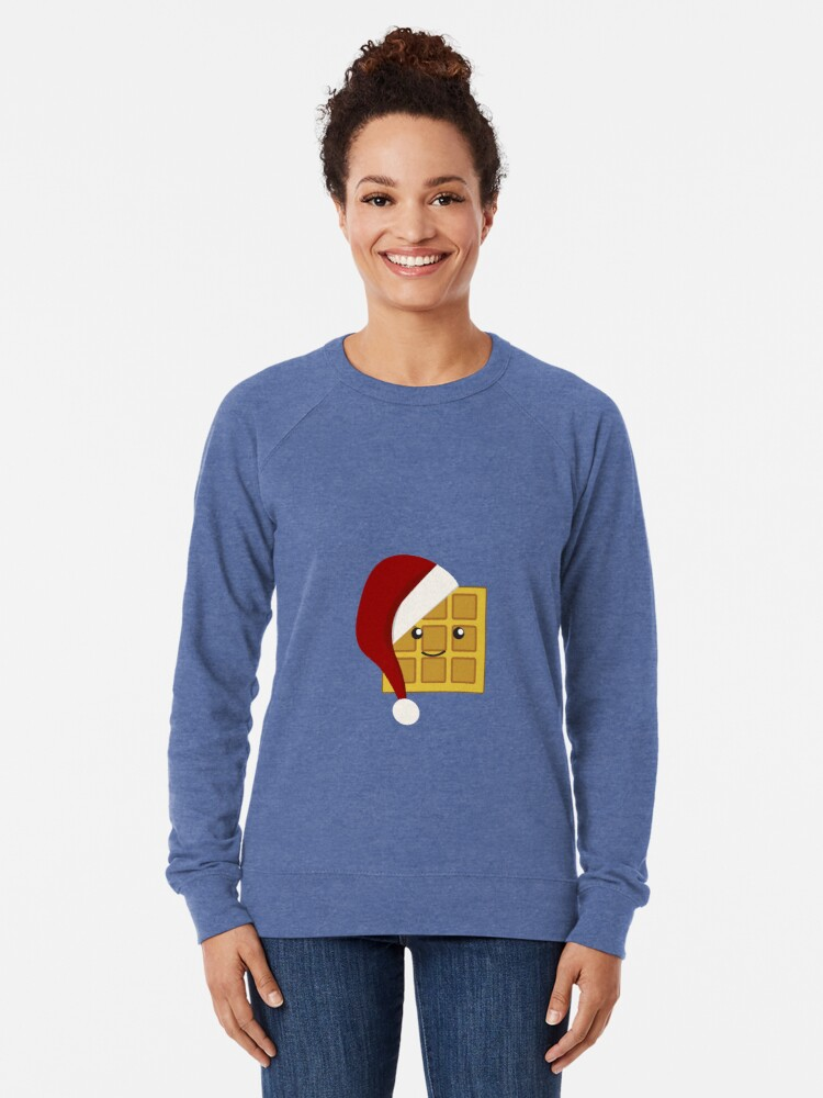 Alternate view of Christmas Waffle Lightweight Sweatshirt