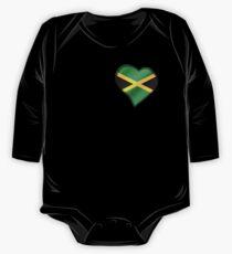 Jamaican Flag - Jamaica - Heart One Piece - Long Sleeve