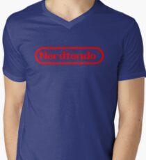 Nerdtendo Mens V-Neck T-Shirt