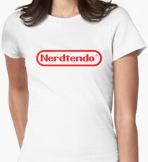 Nerdtendo Women's Fitted T-Shirt