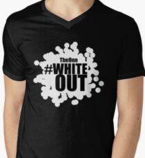 #Whiteout Men's V-Neck T-Shirt