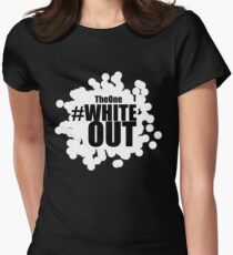 #Whiteout Womens Fitted T-Shirt
