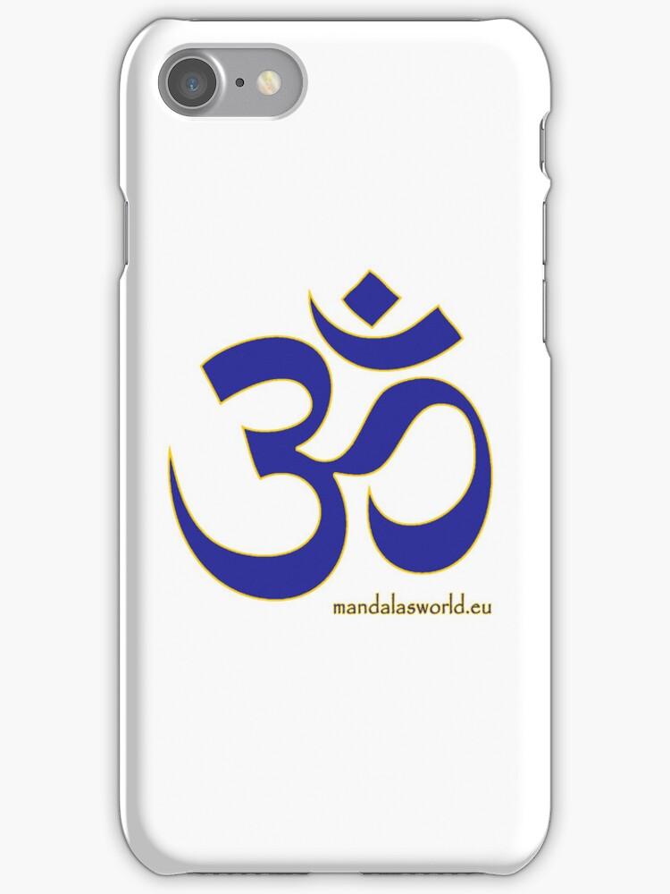 Buddhist Blue Om by Mandala's World