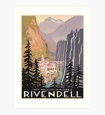 Fantasy valley travel poster Art Print