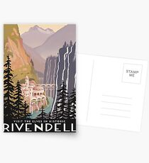 Fantasy valley travel poster Postcards