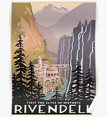 Fantasy valley travel poster Poster