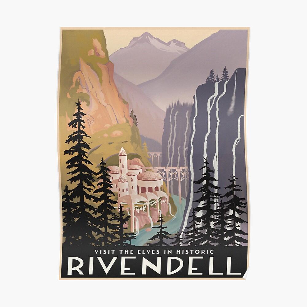 Fantasy valley travel poster Poster