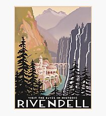 Fantasy valley travel poster Photographic Print