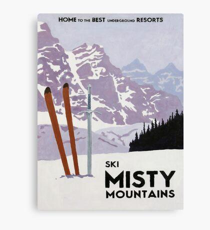 Vintage ski mountain poster Canvas Print