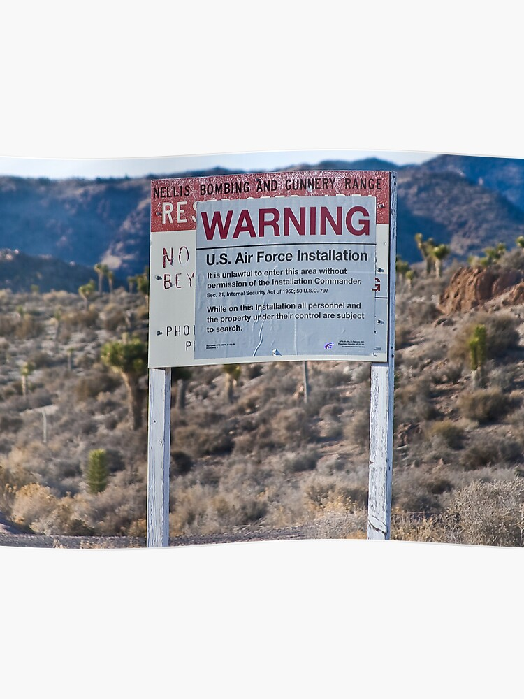 Air Force Warning Sign Area 51 | Poster