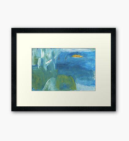 goat island Framed Print
