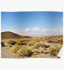 Coyote Pass Towards Rachel Nevada Poster