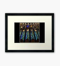Rainbow Pipes Framed Print
