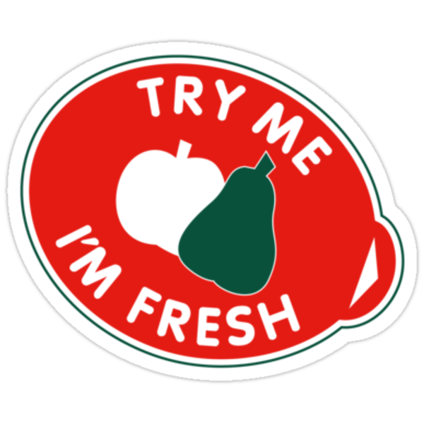 Quot Try Me I M Fresh Quot Stickers By Redcreative Redbubble