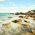 Misty Blue - Forresters Beach by Jacob Jackson