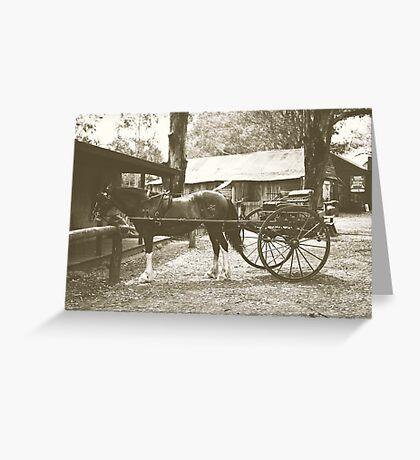 Australian Pioneer Village - Horse & Buggy Greeting Card