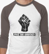 FREE THE AMBERED Men's Baseball ¾ T-Shirt