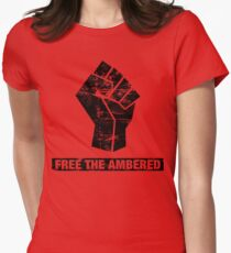 FREE THE AMBERED Women's Fitted T-Shirt