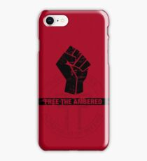 FREE THE AMBERED iPhone Case/Skin