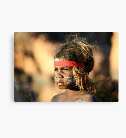 Aboriginal girl Canvas Print