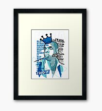 Jay-Z Eleven Straight Summers Framed Print