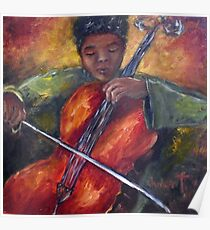 Young Cellist Poster