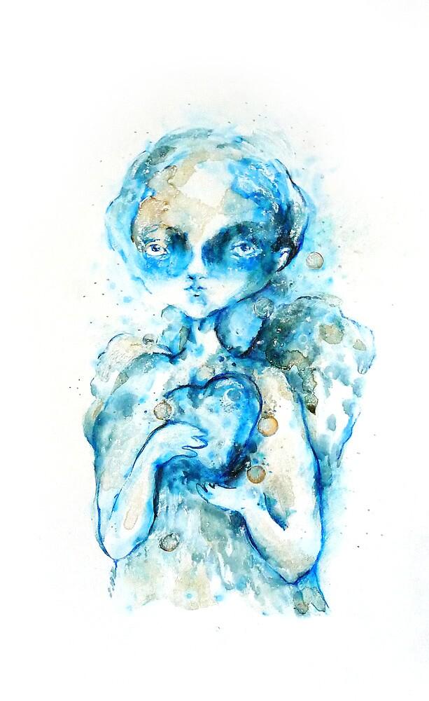 """Coffee angel"" by Tatjana Larina"