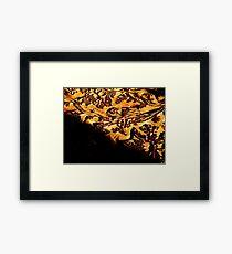 Woodcut Flowers Framed Print