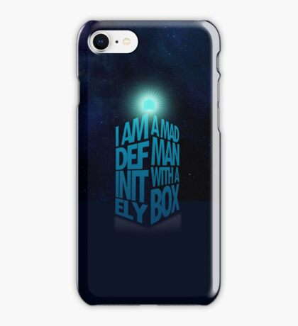 A Madman With a Box iPhone Case iPhone Case/Skin