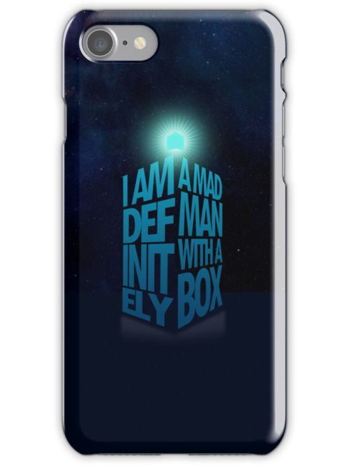 A Madman With a Box iPhone Case by Tom Trager
