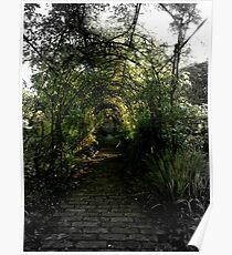 Green Garden Bower Poster