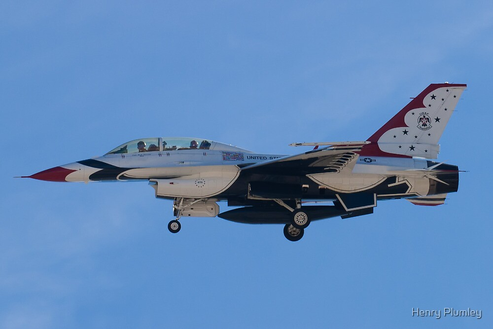 USAF Thunderbird 8 Side Shot Unmarked  by Henry Plumley