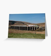 Tornado Steams Across Ribblehead Viaduct Greeting Card