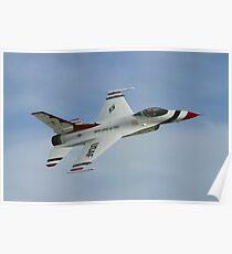 USAF Thunderbirds Solo Sneak Pass Poster