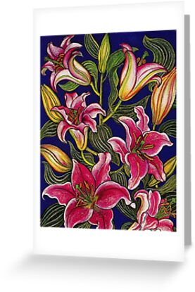 Oriental Lilies by YouBeaut Designs