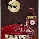 Santa over London by MarceloPaz