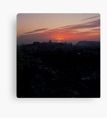 Wintery Budapest Sunrise Canvas Print