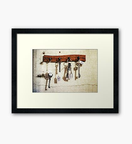 The Keys To A Few Important Things Framed Print