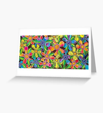 Funky Flowers Greeting Card