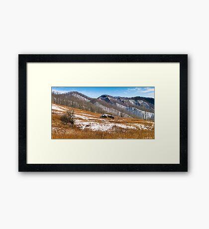 A Hint of Snow Framed Print