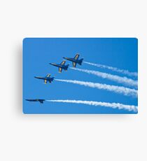 Blue Angels Inverted Tuck Over Roll Canvas Print